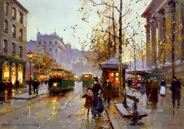 EC place de la madeleine 4 Parisian Oil Paintings