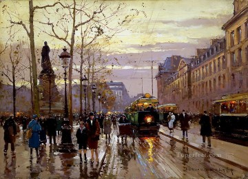 EC place de la republique Parisian Oil Paintings