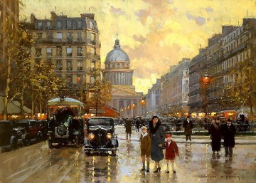 EC rue dulm pantheon Parisian Oil Paintings