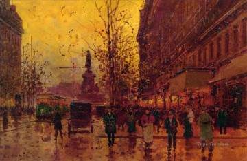 Paris Painting - EC the place de la republique paris