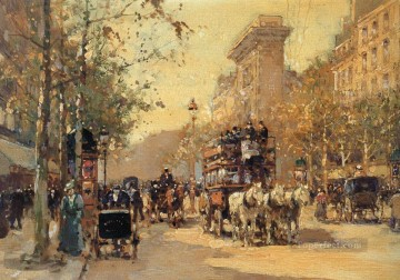 Paris Painting - EC the porte saint martin Parisian