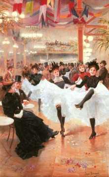 Jeune Le Cafe De Parisienne Jean Beraud Oil Paintings