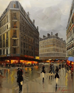 KG Parisian Lifestyle Oil Paintings