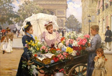 Louis Marie Schryver 7 Parisienne Oil Paintings