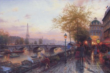 thomas kinkade Painting - Paris Eiffel Tower Thomas Kinkade 2
