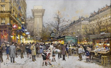 Paris Porte Saint Denis 5 Eugene Galien Oil Paintings