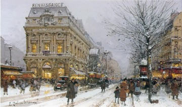 Paris scenes 07 Eugene Galien Oil Paintings
