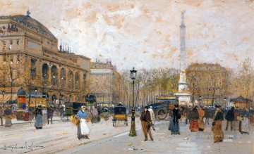 Paris scenes 09 Eugene Galien Oil Paintings