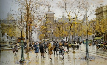 Paris Painting - Paris scenes 10 Eugene Galien