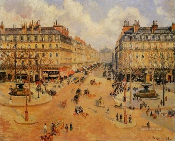 Paris Painting - avenue de l opera morning sunshine 1898 Camille Pissarro Parisian