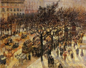 boulevard des italiens afternoon 1897 Camille Pissarro Parisian Oil Paintings