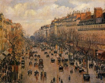 Paris Painting - boulevard montmartre afternoon sunlight 1897 Camille Pissarro Parisian
