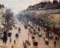boulevard montmartre winter morning 1897 Camille Pissarro Parisian