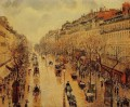 camille pissarro boulevard montmartre afternoon in the rain 1897 Parisian