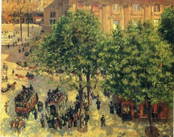 place du theatre francais spring 1898 Camille Pissarro Parisian Oil Paintings