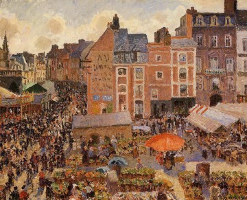 Parisian Works - the fair dieppe sunny afternoon 1901 Camille Pissarro Parisian