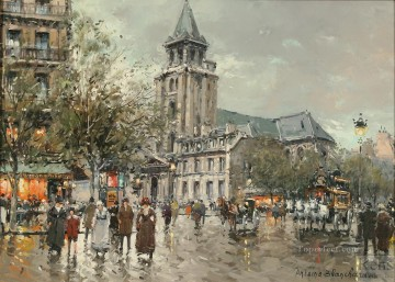AB eglise de saint germain des pres Parisian Oil Paintings