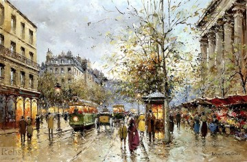 Paris Painting - AB flower market madeleine 1 Parisian