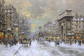 Paris Painting - AB porte st martin and porte st denis Parisian