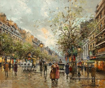 AB theatre des varietes large 3 Parisian Oil Paintings