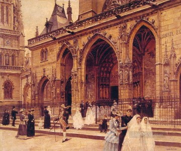 First Communion Paris scenes Jean Beraud Oil Paintings