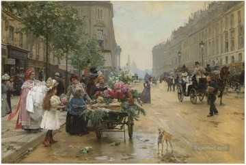 Paris Painting - Louis Marie Schryver 6 Parisienne