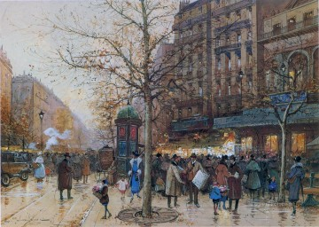 Paris scenes 12 Eugene Galien Oil Paintings
