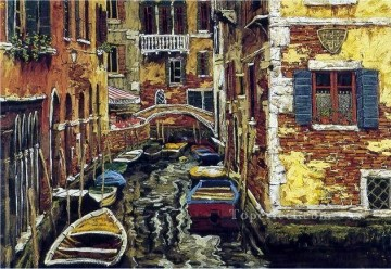 YXJ0437e impressionist Venice scape Oil Paintings