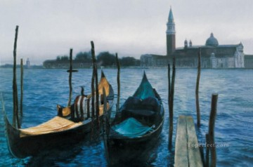 Venitian Church Chinese Chen Yifei cityscape Oil Paintings