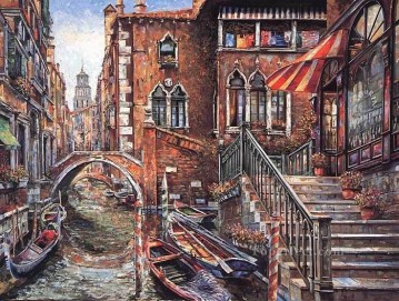YXJ0325e impressionism Venice scape Oil Paintings