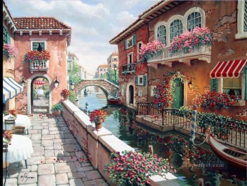 Afternoon in Venice Oil Paintings