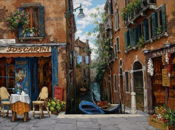 Venice Modern Painting - Venice in Bloom