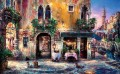 Evening in Venice cafe cityscape modern city scenes