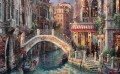 Venice canal Over the Bridge cityscape modern city scenes