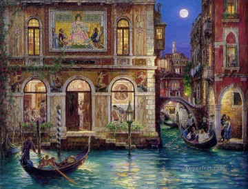 Memories of Venice canal cityscape modern city scenes Oil Paintings