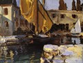Boat with The Golden Sail San Vigilio John Singer Sargent