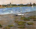 The Anchorage Cos Cob impressionism boat Theodore Robinson