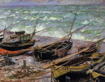 Dockscape Painting - Fishing Boats Claude Monet