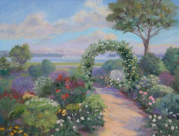 Garden with an Arbor Oil Paintings