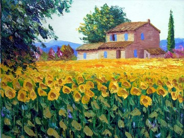 Sunflowers 2 garden Oil Paintings