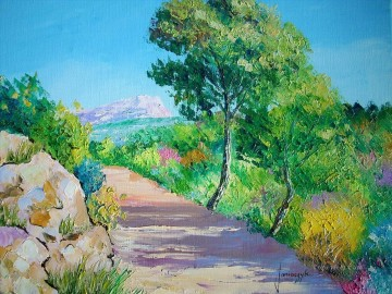 PLS01 beautiful landscape garden Oil Paintings