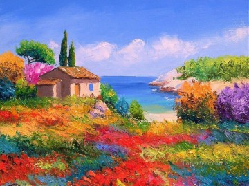 PLS09 beautiful landscape garden Oil Paintings