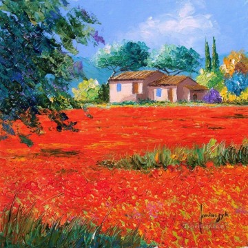 PLS19 beautiful landscape garden Oil Paintings