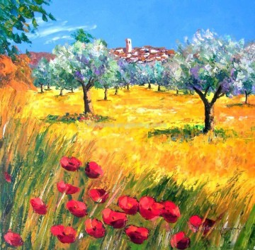 PLS21 beautiful landscape garden Oil Paintings