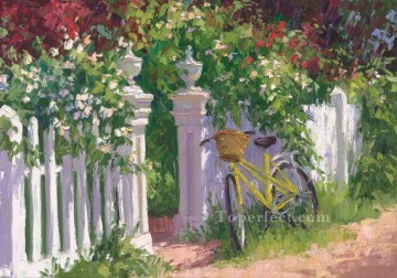ig065E scenery floral garden impressionist Oil Paintings