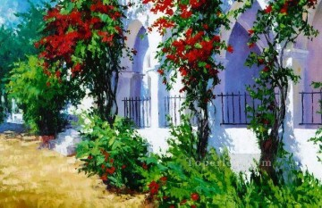ig066E scenery floral garden impressionist Oil Paintings