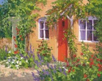 ig074E scenery floral garden impressionist Oil Paintings
