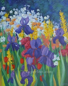 yxf004bE impressionism garden Oil Paintings
