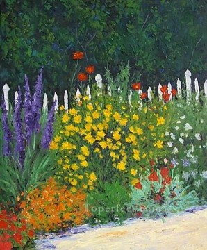 yxf011bE impressionism garden Oil Paintings