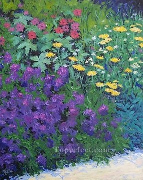 yxf015bE impressionism garden Oil Paintings